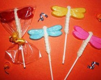 20 Chocolate DRAGONFLY Lollipop Party Favors