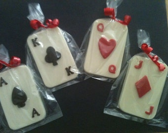 20 Chocolate PLAYING CARDS Party Favors