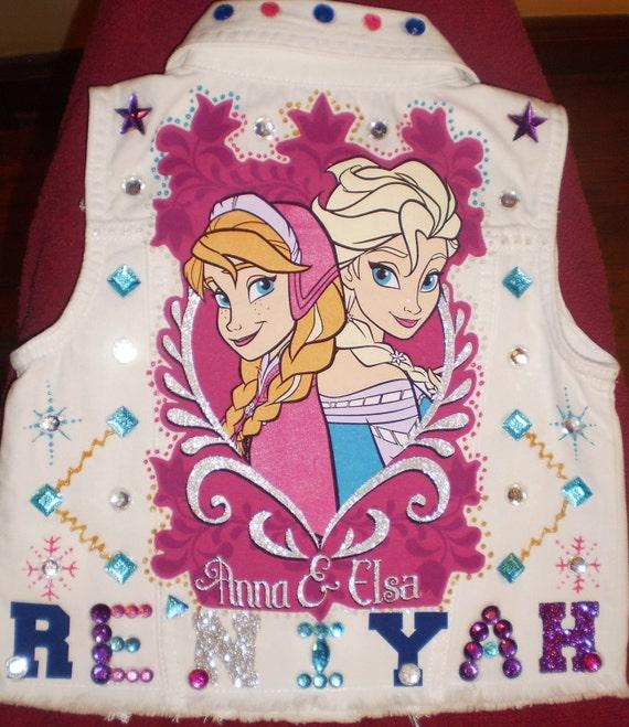 Frozen Vest Kids Jean Jacket Custom Jean Jacket By