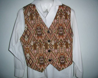 Jacket, vest woman tapestry Renaissance, Baroque, in shades of pink/green 1980