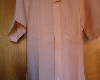 Shirt men orange sleeves short 1980