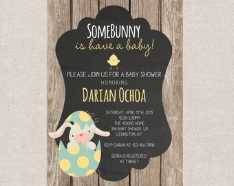 PRINTABLE- Baby Shower Invitation - About to Hatch - Little Chick- Baby Shower Easter Invite- Shower Invite- 5x7 JPG