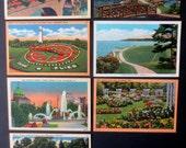 Vintage Lot of 7 Northeastern USA Landscape/Garden Postcards