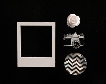Classy Black and White Magnet Set
