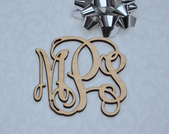 5 inch Wooden Monogram Letters Great for Chrismas Ornaments & Decorating Options