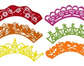 Cupcake Wrappers Vector Art SVG Files Set #2