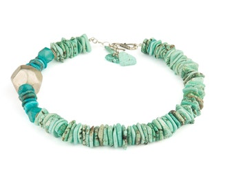 Turquoise and French bauble necklace