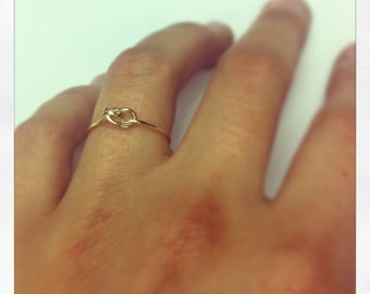 Gold knot ring 750mm (18K)
