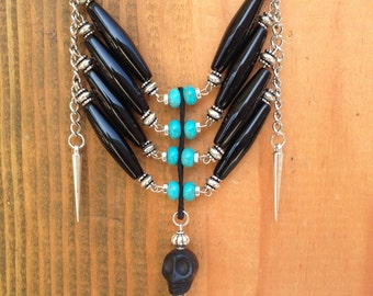 Native American Inspired Chain Breastplate Necklace