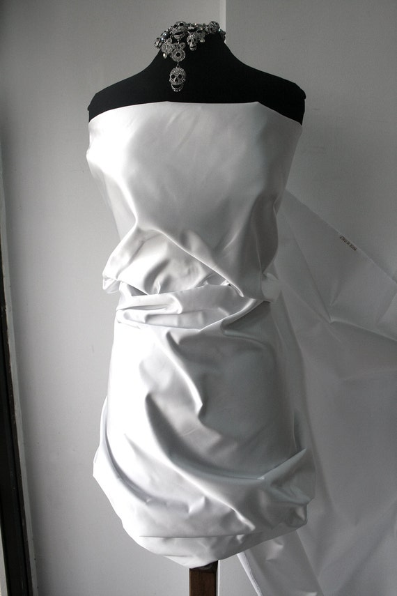 how to clean polyester satin wedding dress