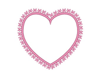 Applique Heart with Border