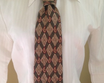 Colours Alexander Julian Print 90s Necktie