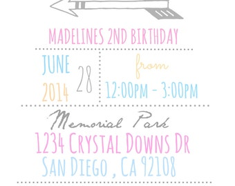 Whimsical Birthday Invitation
