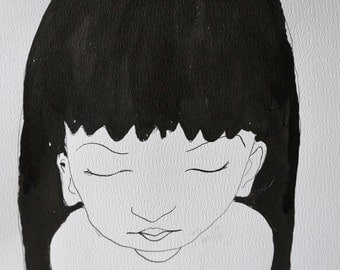 girl with black hair