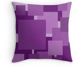 Purple Pillow, Purple Throw Pillow, Purple Geometric Pillow, Purple Pillow Cover, Purple Pillow Case, Purple Bedroom, Purple Decor, Purple