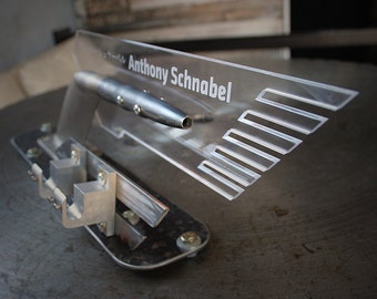 Custom sign made from metals business signage custom metal business card holder made from recycled metal parts reheart Choice Image