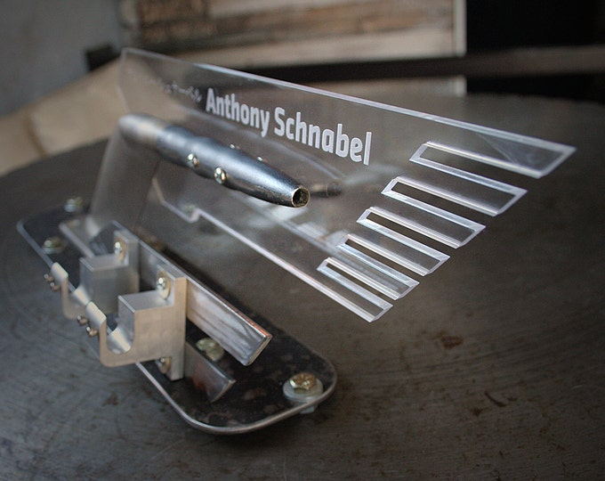 Custom Metal Business Card Holder made from Recycled Metal Parts