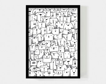 Poster 50 x 70 cm // Boxed animals