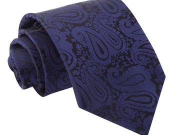 Paisley Navy Blue Tie
