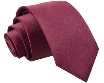 Satin Burgundy Boy's Tie