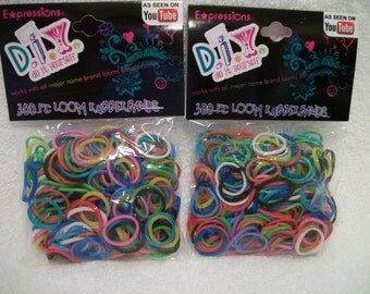 Loom Bands Assorted Colors 600 Total With 24 Clips For Loom Band Crafts