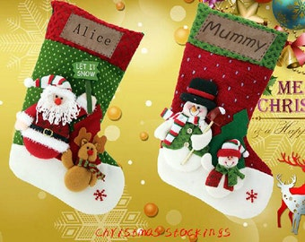 Personalized 3D Christmas stockings holidays stockings-present/gift collection bag