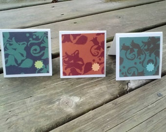 Abstract Starburst Square Cards - Set of 6, Blank Inside