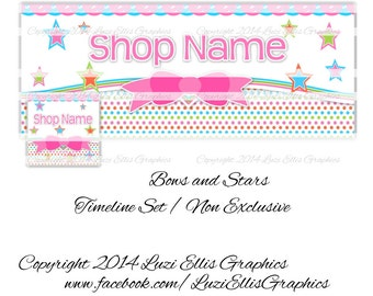 Bows and Stars Facebook Timeline Banner & Profile - non-exclusive