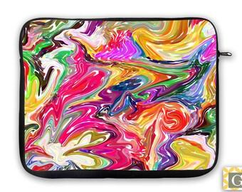Neoprene Sleeve, Tablet Case, Laptop Bag, iPad, MacBook Case, Microsoft Surface - Liquid Geranium