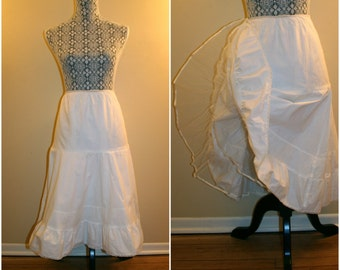 1950's Vintage Styled By Florell White Cotton Petticoat