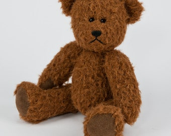 Travel Teds - Handmade, Hand Stitched Collectible Artists Mohair Teddy Bear - Septimus