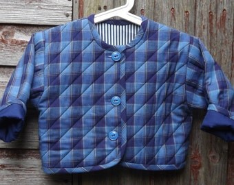 Toddler's jacket - age 18 - 24 mth. Padded, quilted, reversible