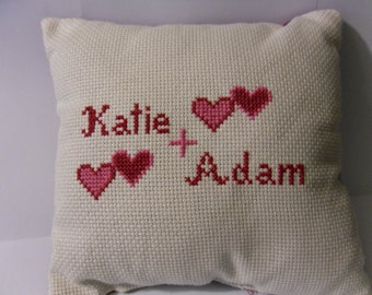 Personalized Cross-Stitched Name Pillow