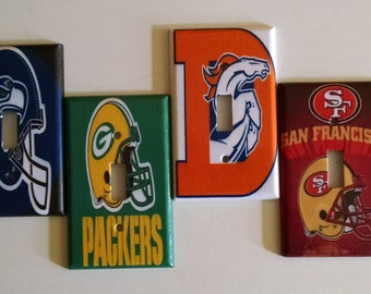 Football Light Switch Covers/Broncos/Seahawks/Packers/49ers