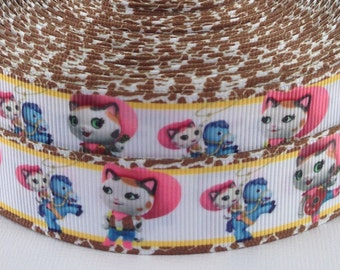 "Sheriff Callie 1"" Grosgrain Ribbon - Sheriff Callie Ribbon - 3 yards Sheriff Callie Grosgrain Ribbon - Sheriff Callie Grosgrain Ribbon"