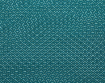 Traditional wave pattern, bluegreen - Fat Quarter