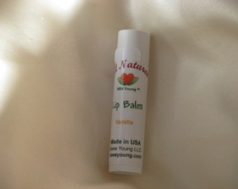 Lip Balm Vanilla, Cherry  or Peppermint Free US Shipping