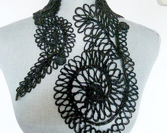 1930's Beaded Lace Collar ~ Victorian
