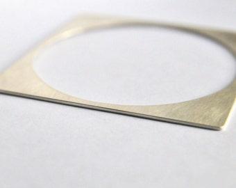 Geometrical bracelet (silver)