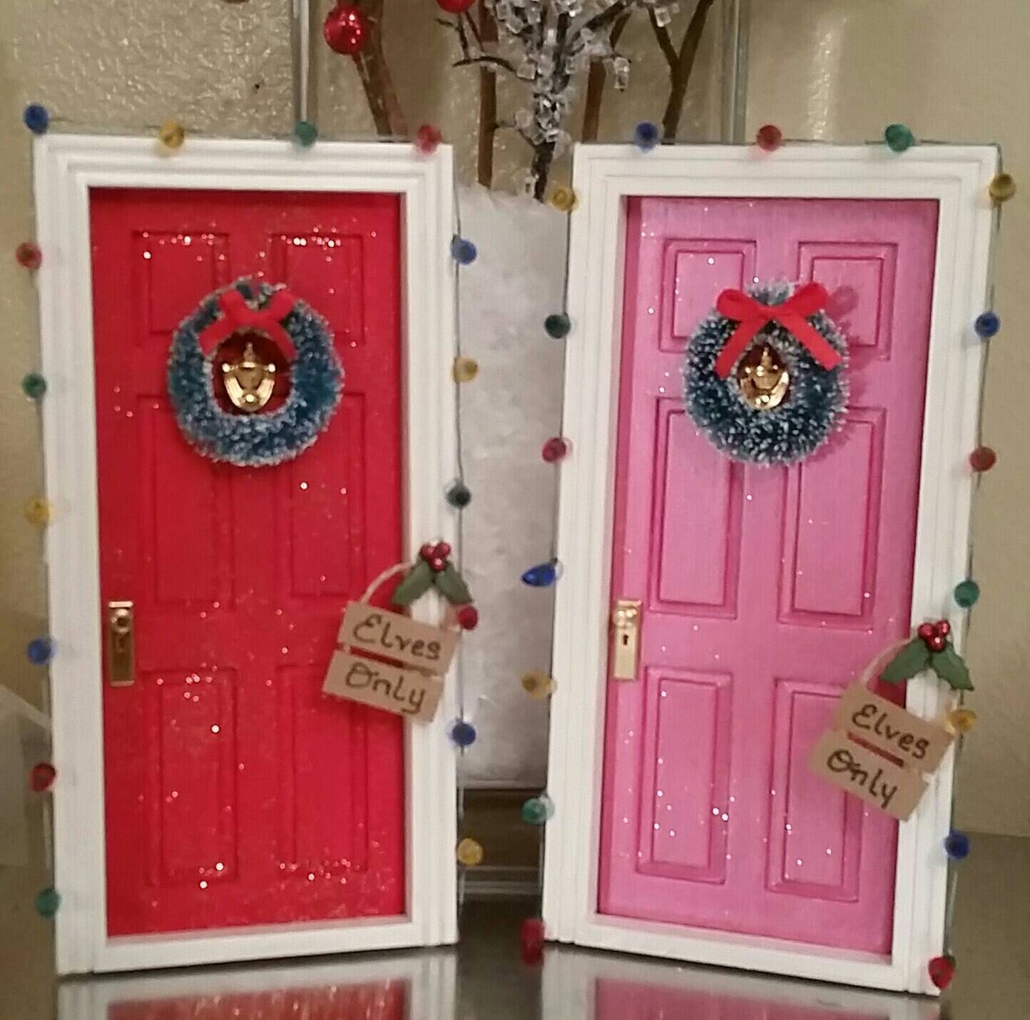 Christmas elf door tooth fairy door for Elf fairy doors