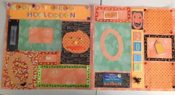 Scrapbooking:Baby's First Halloween Scrapbook pages