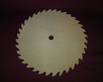"""10"""" wood saw blade, unpainted,round,craft,folk art"""