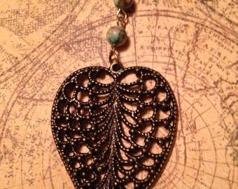 Wildwood Turquoise Jasper Leaf Necklace