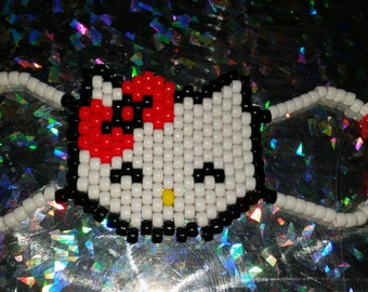 Happy Bow Cat Kandi Rave Mask