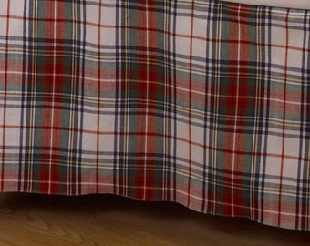 Red, Blue, White, & Green Plaid Fabric