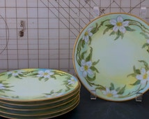 "6 ""Favorite Bavaria"" floral china plates"
