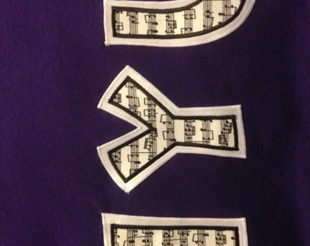 Music note Stitch letter shirt