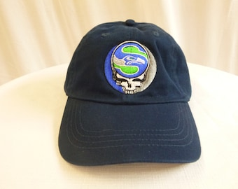 Seahawks Caps with Cool Grateful Dead Stealie Design.