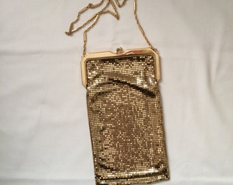 Vintage Whiting & Davis Gold Mesh Handbag Purse
