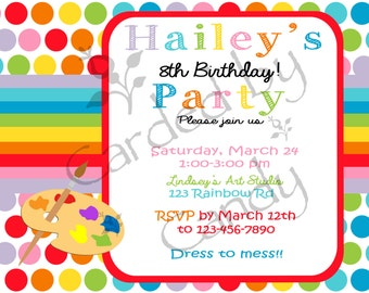 Painting Birthday Party Invitation